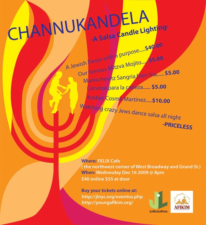Channukandela - A Salsa Candle Lighting